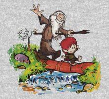 Gandalf and Bilbo calvin hobes Kids Clothes