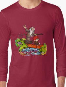 Gandalf and Bilbo calvin hobes Long Sleeve T-Shirt