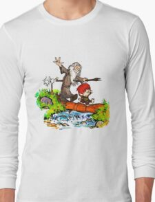 Gandalf and Bilbo calvin hobes Long Sleeve T-Shirt