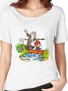 Gandalf and Bilbo calvin hobes Women's Relaxed Fit T-Shirt