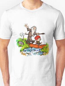 Gandalf and Bilbo calvin hobes Unisex T-Shirt