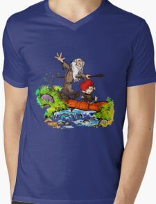 Gandalf and Bilbo calvin hobes Mens V-Neck T-Shirt