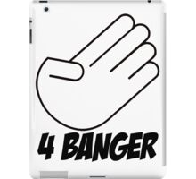 4 Banger Decal (White) iPad Case/Skin