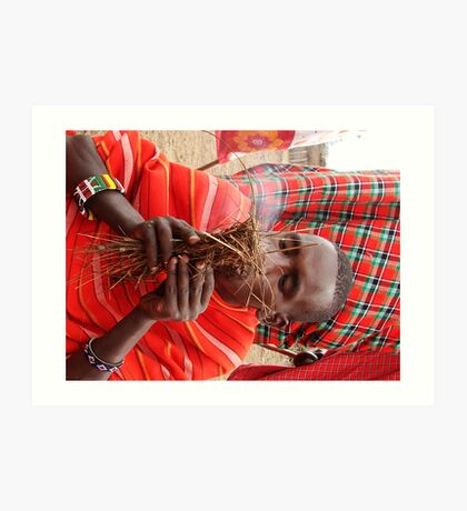 Masai Mara Tribesman Art Print