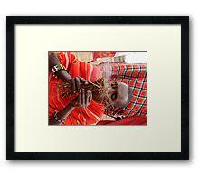 Masai Mara Tribesman Framed Print