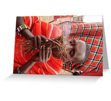 Masai Mara Tribesman Greeting Card