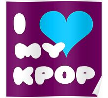 I LOVE MY KPOP - Purple Poster