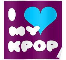 I LOVE MY KPOP - Purple Poster