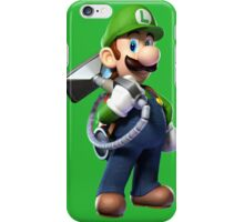 Luigi with Poltergust 5000 iPhone Case/Skin