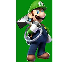 Luigi with Poltergust 5000 Photographic Print