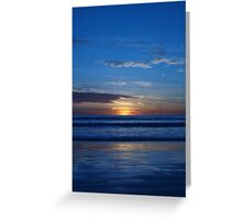 Blue Sunset - Cable Beach Greeting Card