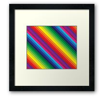 RAINBOW STRIPE bright bold colourful Framed Print