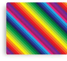 RAINBOW STRIPE bright bold colourful Canvas Print