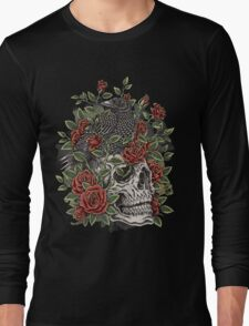 Floral Skull Long Sleeve T-Shirt