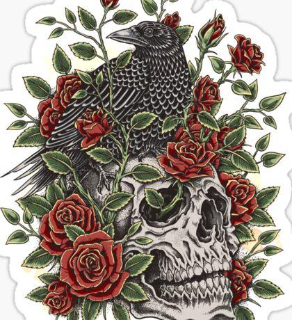Floral Skull Sticker