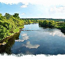 The River Finn watercolour by PhotosByHealy