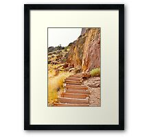 Smith Rock Stairs Framed Print