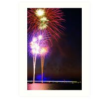 Fireworks - Commonwealth Avenue Bridge Art Print