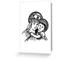 Virgin Mary and Child Greeting Card