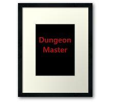 Dungeon Master Framed Print