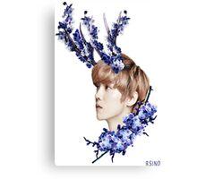 Blossoms Blue Canvas Print
