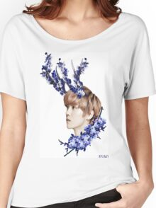 Blossoms Blue Women's Relaxed Fit T-Shirt