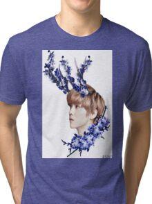 Blossoms Blue Tri-blend T-Shirt
