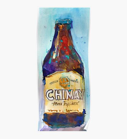 Chimay Triple - Authentic Trappist Beer Belgian Beer Poster