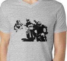 mighty mowers racing Mens V-Neck T-Shirt