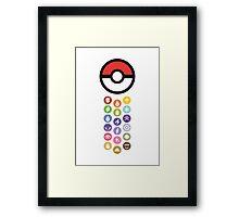 Pokemon Types Framed Print
