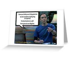Sheldon & Gifts Greeting Card