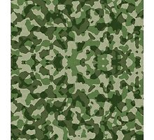 Green Camouflage Pattern by YoPattern