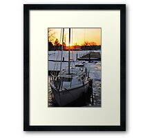 Frozen Sail Framed Print
