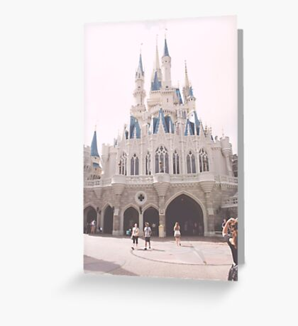 WDW castle Greeting Card