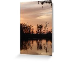 Sunset on Bear Creek Greeting Card
