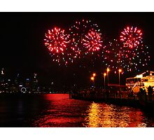 Bursts of Red - Perth Skyworks 2009 Photographic Print