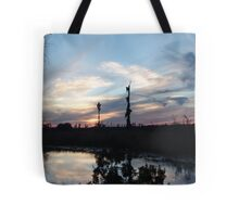 Bird Clouds at Sunset Tote Bag
