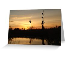 Sunset - Yellow, Gold, Orange Greeting Card