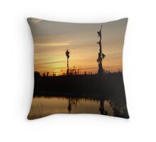 Sunset - Yellow, Gold, Orange Throw Pillow