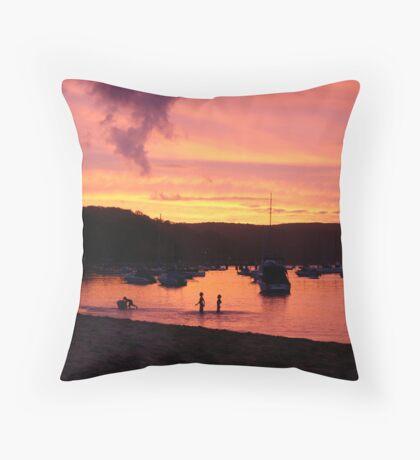 Sunset at Clareville Throw Pillow