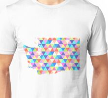 Washington State Colorful Geometric Triangles Unisex T-Shirt
