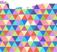Oregon State of Colorful Triangles  by CorrieJacobs