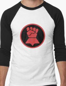 Crimson Fists Symbol Men's Baseball ¾ T-Shirt