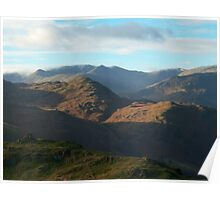 The Lake District: Looking into the Fells  Poster