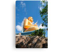 Golden Budda statue Canvas Print
