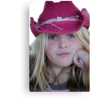 Little Cowgirl! Canvas Print