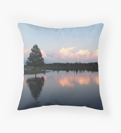 Clouds of Pink Throw Pillow