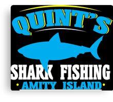Quint's shark fishing amity island Funny Geek Nerd Canvas Print