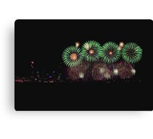 Perth Skyworks 2009 Finale  Canvas Print