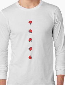 Pokemon Pokeballs Long Sleeve T-Shirt